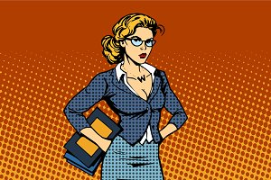 businesswoman superhero woman vamp