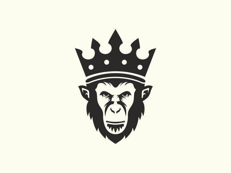 King Monkey Logo Templates Creative Market