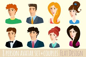Vector Set of flat design people