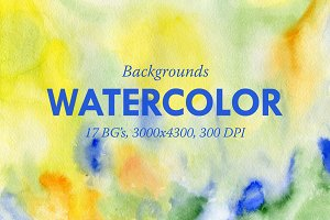 17 Watercolor Backgrounds