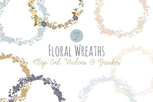 Floral Wreath Overlays & Vectors