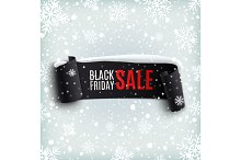 Black Friday sale, winter background