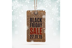 Black Friday sale. Vintage price tag