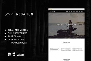 Negation - Responsive HTML5 Template