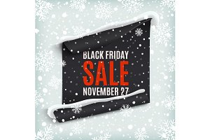 Black Friday sale. Paper banner.