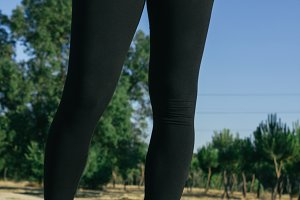Legs of a runner woman