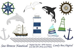Nautical Clip Art w/ Vectors