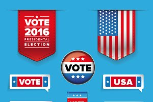 Presidental election set vector