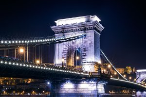 View of the Chain bridge, Budapest