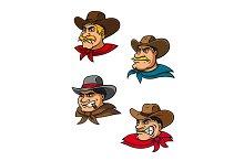Cartoon western brutal cowboys masco