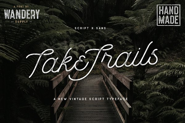 TakeTrails Script Vintage Typeface