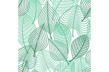 Foliage green leaves seamless patter