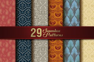 Seamless Patterns Vintage Collection
