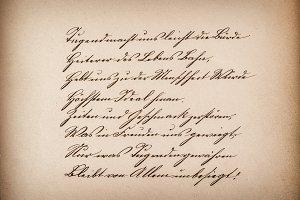 Old calligraphic manuscript