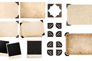 Photo paper frame corner JPG