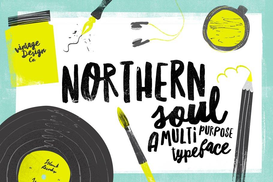 Northern Soul - Typeface ~ Script Fonts ~ Creative Market