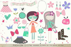 Fashion Sista Cliparts