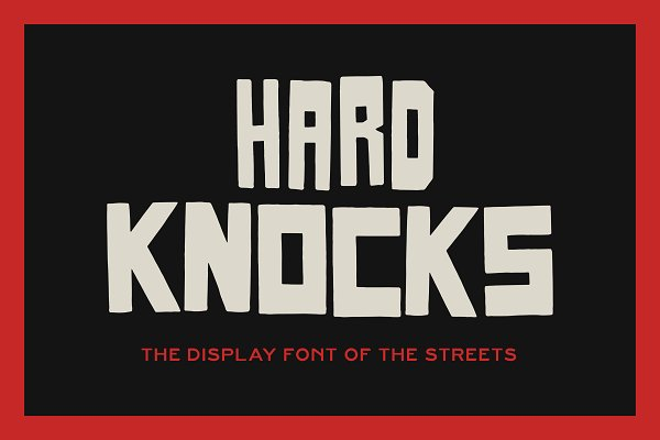 HARD KNOCKS — A Streets Display Font