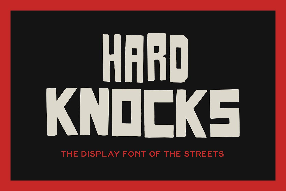 HARD KNOCKS — A Streets Display Font in Display Fonts - product preview 8