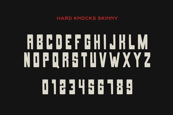 HARD KNOCKS — A Streets Display Font in Display Fonts - product preview 1
