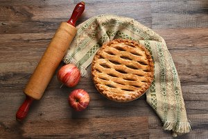 Apple Pie Still Life