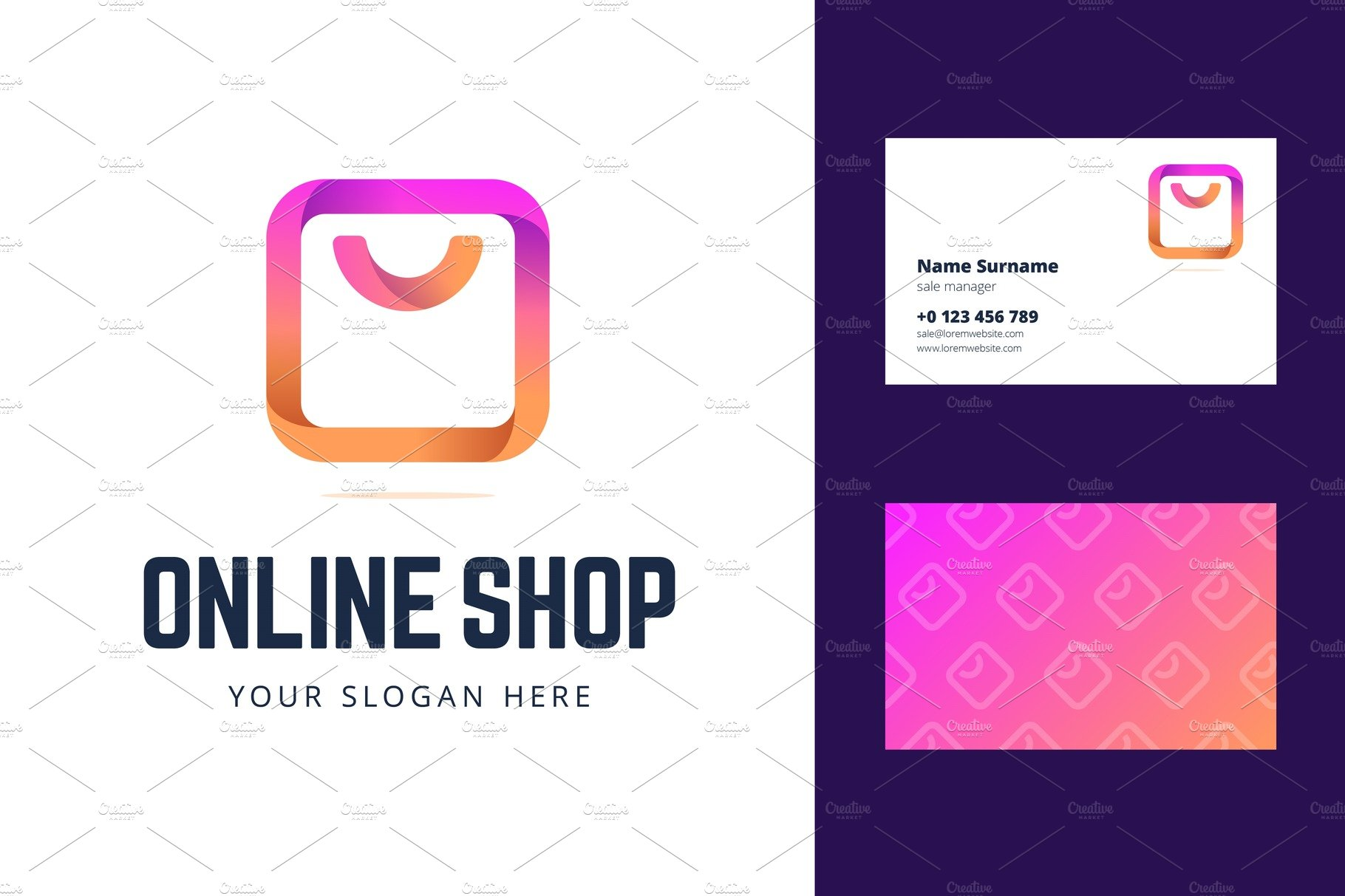 Logo And Business Card Template For Creative Illustrator Templates Creative Market