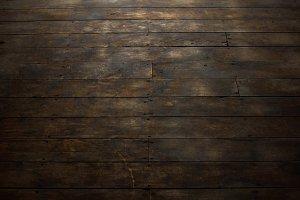 View of Distressed Wood Flooring