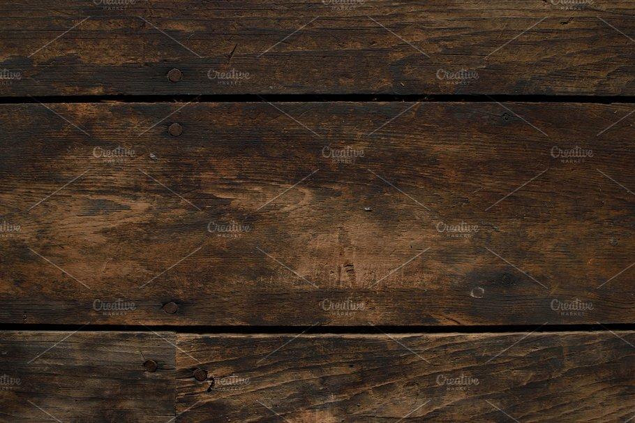 Closeup Of Distressed Wood Floor Abstract Photos Creative Market