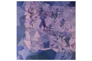Cool Grey Blue Orange Abstract Low P