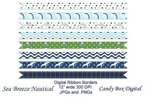 Nautical Ribbon Borders