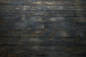 View of Damaged Wood Floor