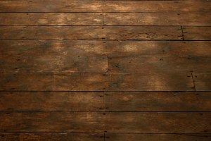 View of Worn Wood Floor