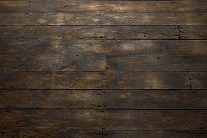View of Distressed Wood Floor