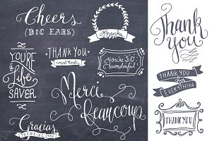 Thank You Photoshop Overlays Vectors