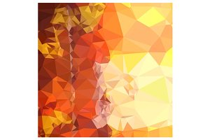 Deep Saffron Orange Abstract Low Pol