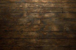 Closeup of Worn Wood Plank Flooring