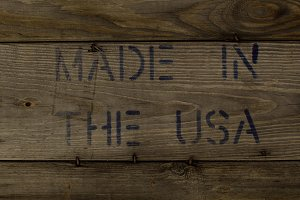 Wood with MADE IN THE USA Stamp