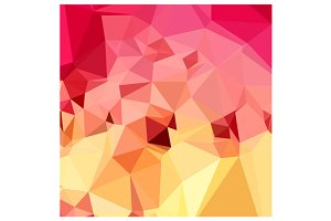 Rose Bonbon Pink Abstract Low Polygo
