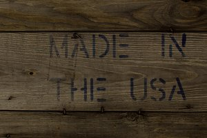 MADE IN THE USA Stamped on Old Wood