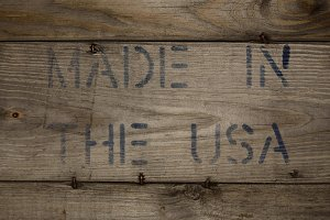 MADE IN THE USA Stamped on Wood
