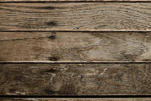 Closeup of Distressed Wood Boards