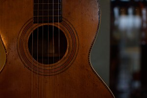 Beautiful Old Parlor Guitar