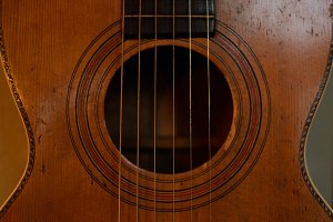 Detail of Vintage Parlor Guitar