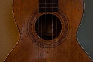 Vintage Parlor Guitar Detail