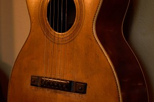 Old Blues Parlor Guitar