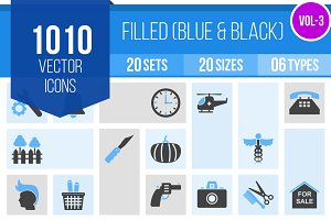 1010 Filled Blue & Black Icons (V3)