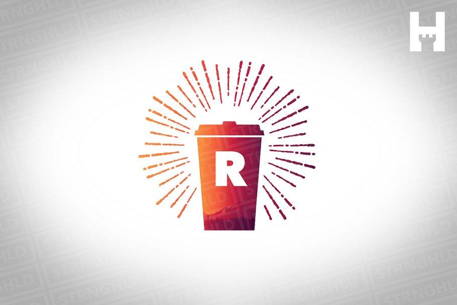 Coffee Brand Vector Logo Template