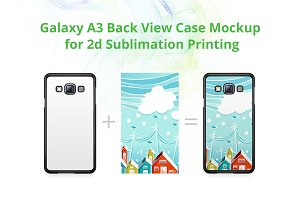 Galaxy A3 2d Case Back Mock-up
