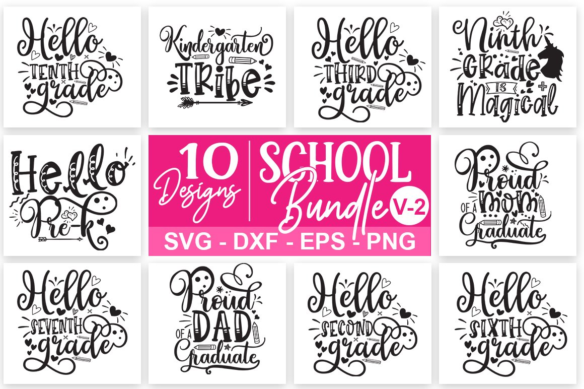 School Svg Bundle 02 Pre Designed Illustrator Graphics Creative Market