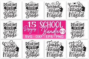 School Svg Bundle 03 Pre Designed Illustrator Graphics Creative Market